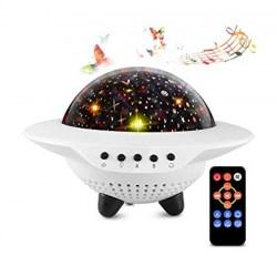 Projector Lamp Επαναφορτιζόμενη Bluetooth/SD/USB - UFO The Starry Sky LB-301