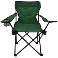 Καρέκλα camping με θήκη σπαστή πράσινη 52x52x88cm